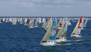 Solitaire du Figaro at start of leg