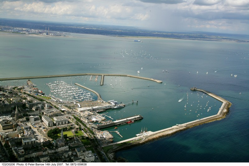 Dun Laoghaire Harbour extending into Dublin Bay