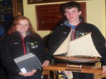 Siân Kneafsey and Finn Lynch with their winning prizes at WHSC