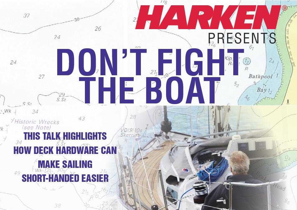 """Harken Talk: """"Don't fight the boat"""""""